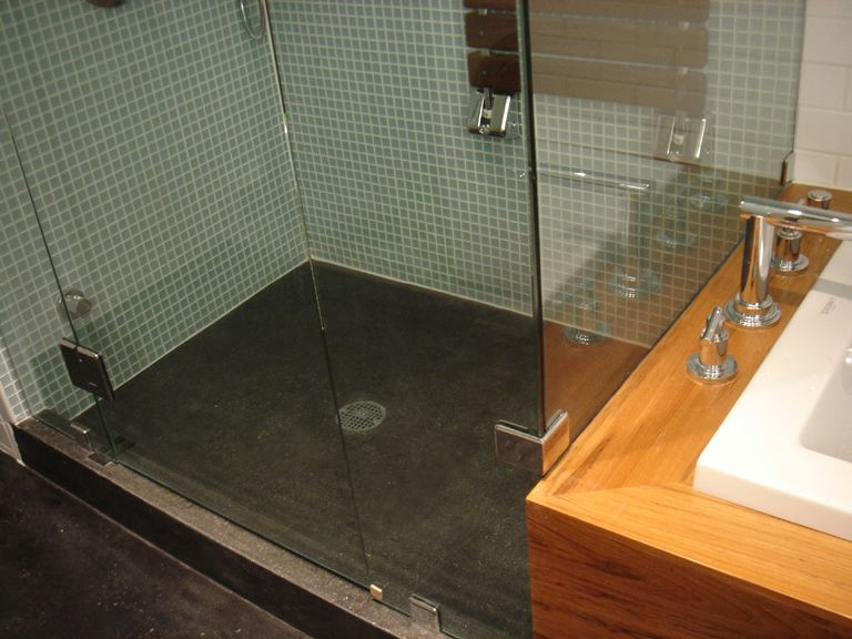 Modern Bathroom Design The Polished Concrete Floor